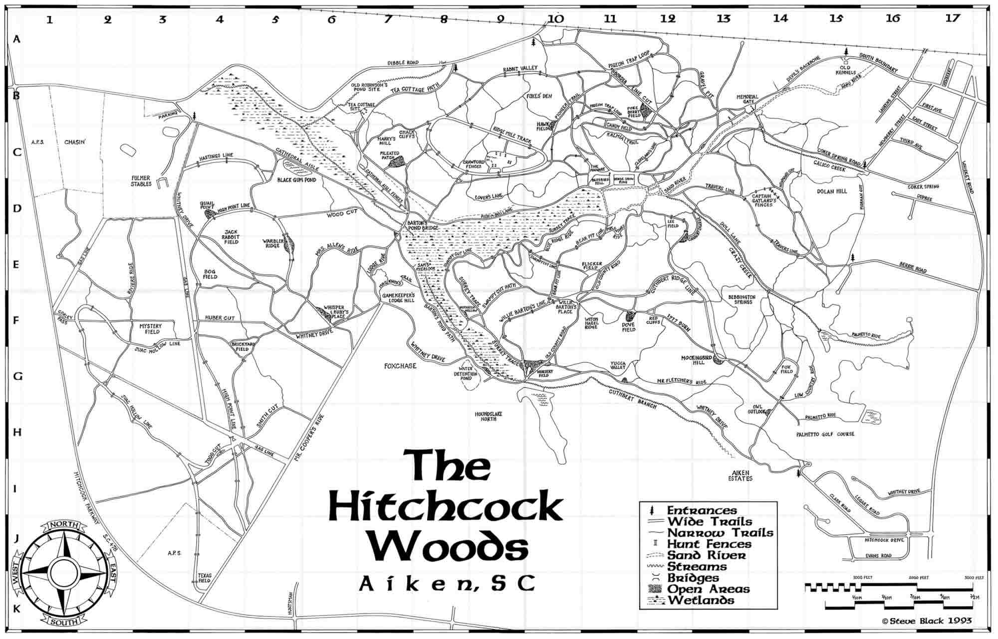Map Of The Woods Hitchcock Woods Foundation